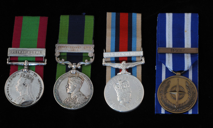 Campaign Medals that have been issue to the British Army for Service in Afghanistan